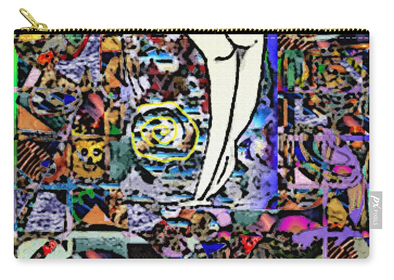 Delara Carry-all Pouch featuring the digital art Untitled by Jorge Delara