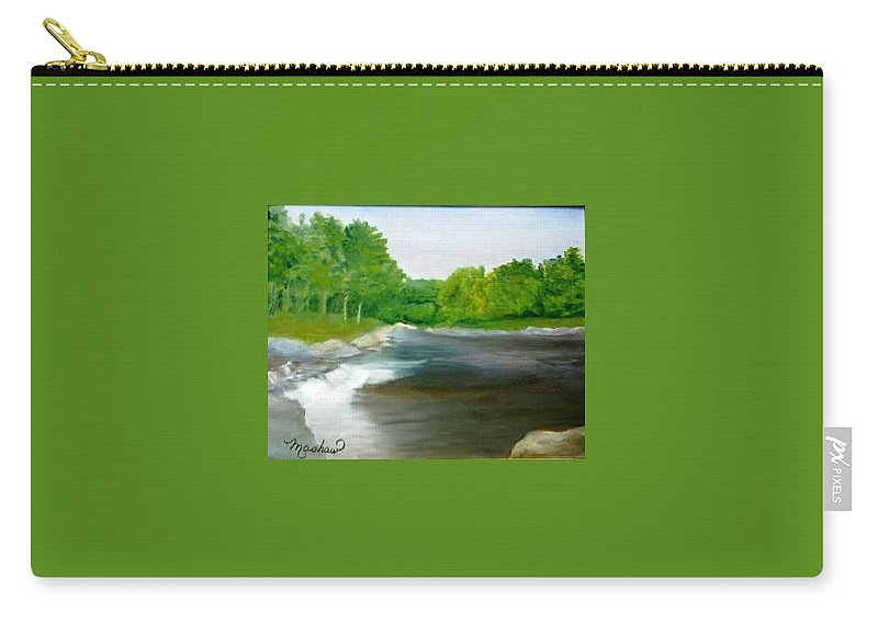 River Carry-all Pouch featuring the painting Untitled Plein Aire by Sheila Mashaw