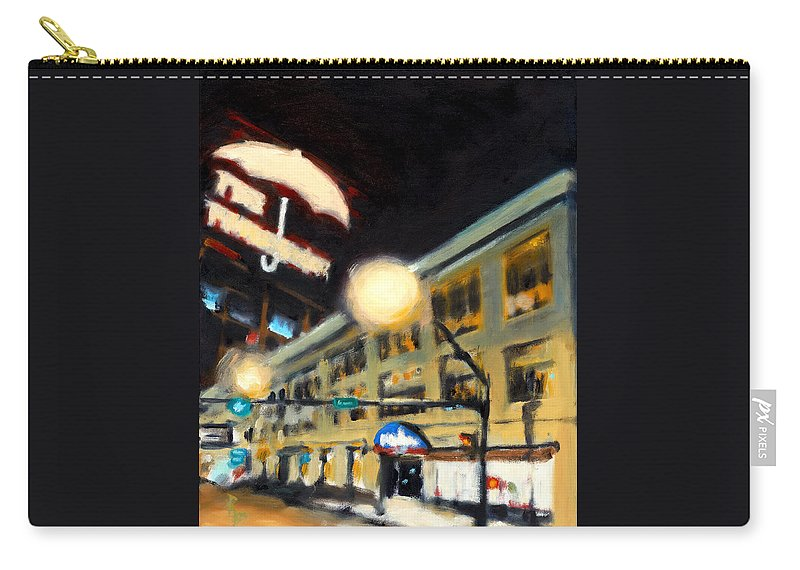 Rob Reeves Carry-all Pouch featuring the painting Untitled by Robert Reeves