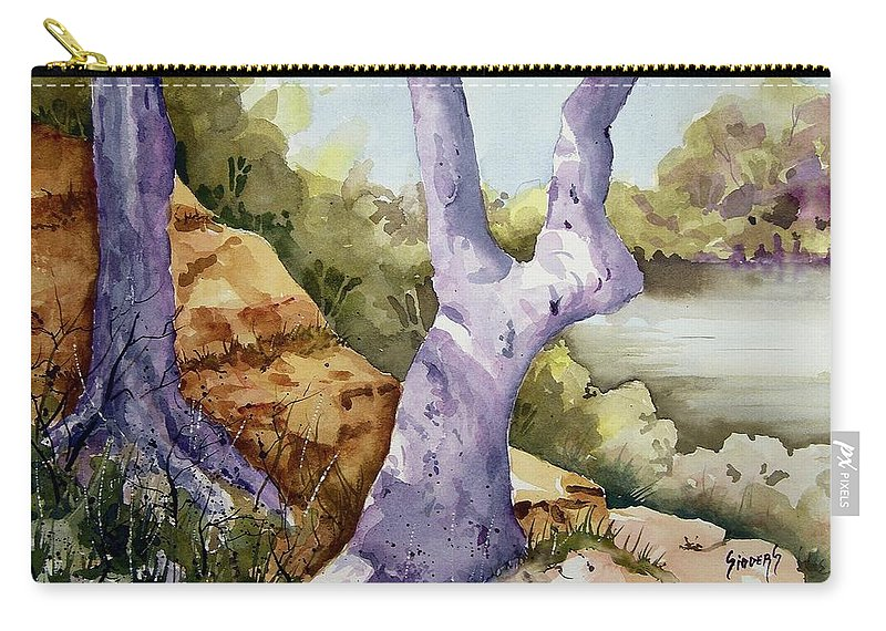 Tree Carry-all Pouch featuring the painting Untitled by Sam Sidders