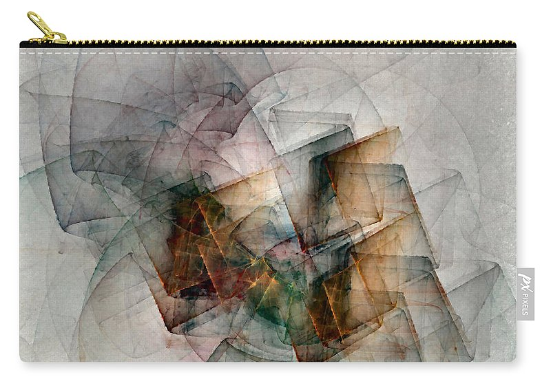 Study Carry-all Pouch featuring the digital art Untitled Study No. 705 by NirvanaBlues