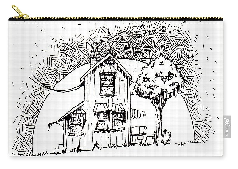 House Carry-all Pouch featuring the drawing Untitled by Tobey Anderson