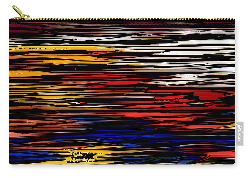 Abstract Digital Painting Carry-all Pouch featuring the digital art Untitled2 9-12-09 by David Lane