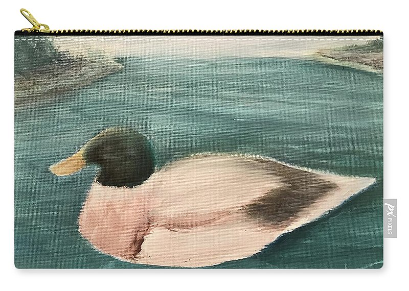 Carry-all Pouch featuring the painting Quack, Quack by Sheila Mashaw