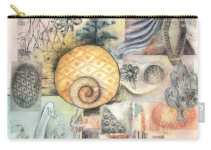 Abstract Carry-all Pouch featuring the mixed media Up And Away by Valerie Meotti