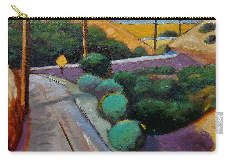 Road Carry-all Pouch featuring the painting Up Metcalf by Gary Coleman