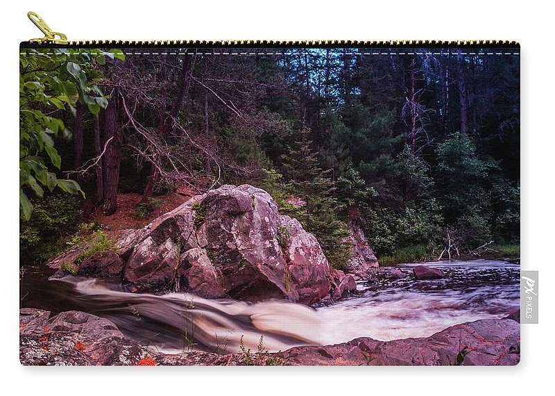 Waterfall Carry-all Pouch featuring the photograph Up Nort' by Scott Perkins