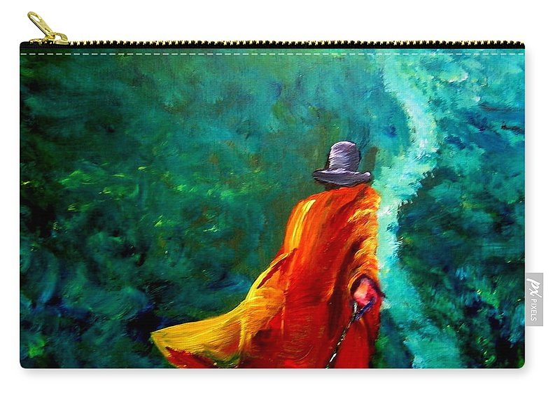 Expressionist Carry-all Pouch featuring the painting Up That Hill by Jason Reinhardt