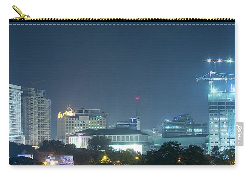 Insogna Carry-all Pouch featuring the photograph Up Town Cebu City Lights by James BO Insogna