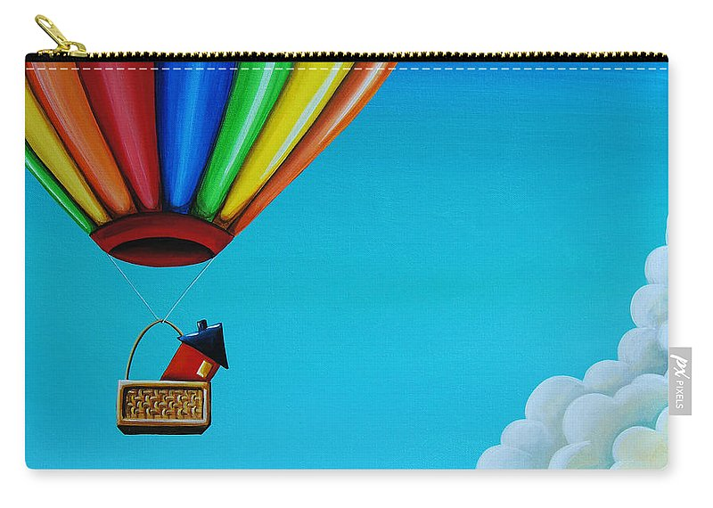 Balloon Carry-all Pouch featuring the painting Up Up And Away by Cindy Thornton
