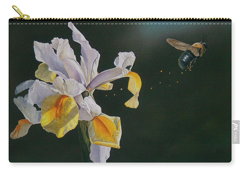 Bee Carry-all Pouch featuring the painting Up, Up And Away by Donnie Hughes