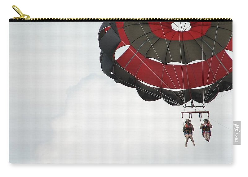 Parasail Carry-all Pouch featuring the photograph Up Up And Away by Kelly Mezzapelle