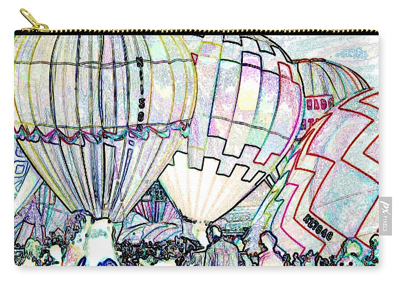 Balloons Carry-all Pouch featuring the photograph Up Up And Away by Tim Allen