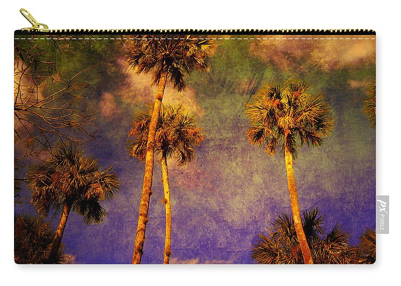 Palm Tree Carry-all Pouch featuring the photograph Up Up To The Sky by Susanne Van Hulst