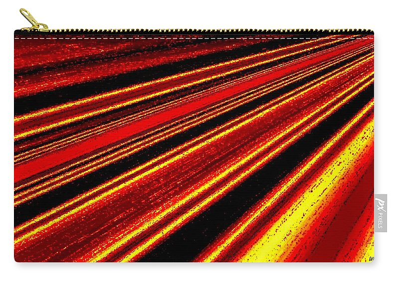 Abstract Carry-all Pouch featuring the digital art Upbeat by Will Borden