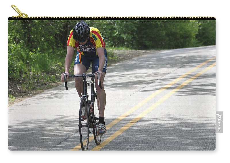Bike Carry-all Pouch featuring the photograph Uphill by Lauri Novak