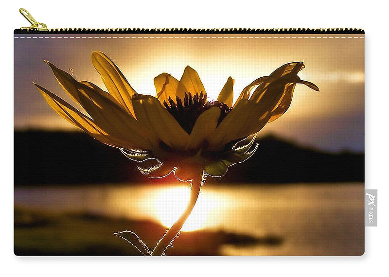 Flower Carry-all Pouch featuring the photograph Uplifting by Karen Scovill