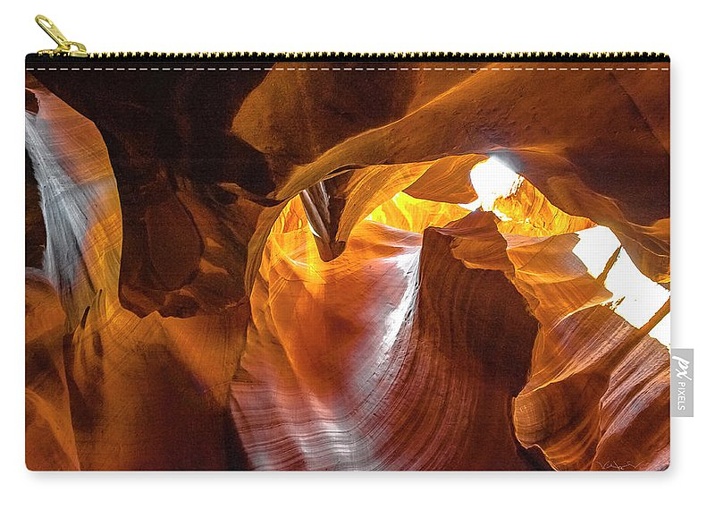Landscape Carry-all Pouch featuring the photograph Upper Antelope Canyon Beauty Natural by William Zayas Cruz