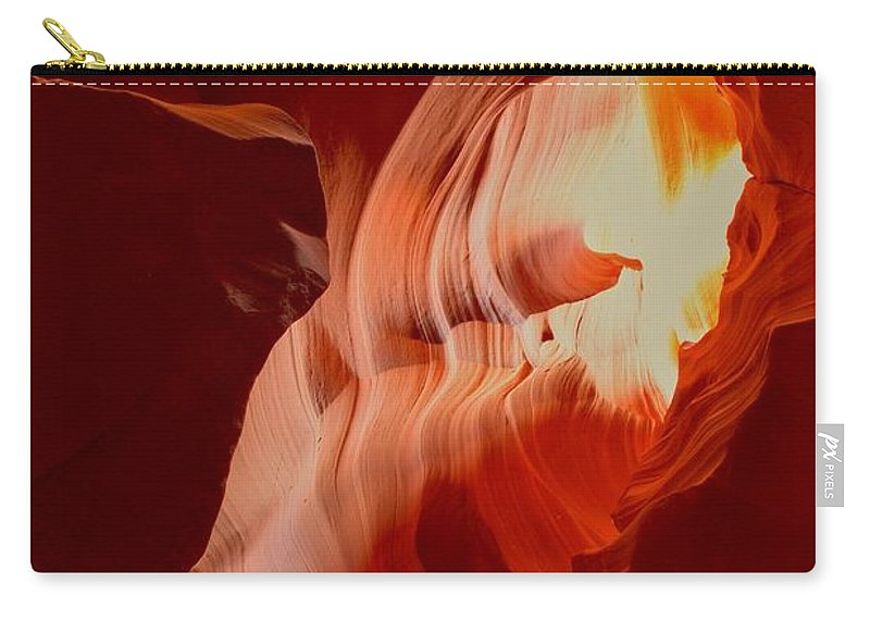 Upper Antelop Carry-all Pouch featuring the photograph Upper Antelope Canyon Textures by Adam Jewell