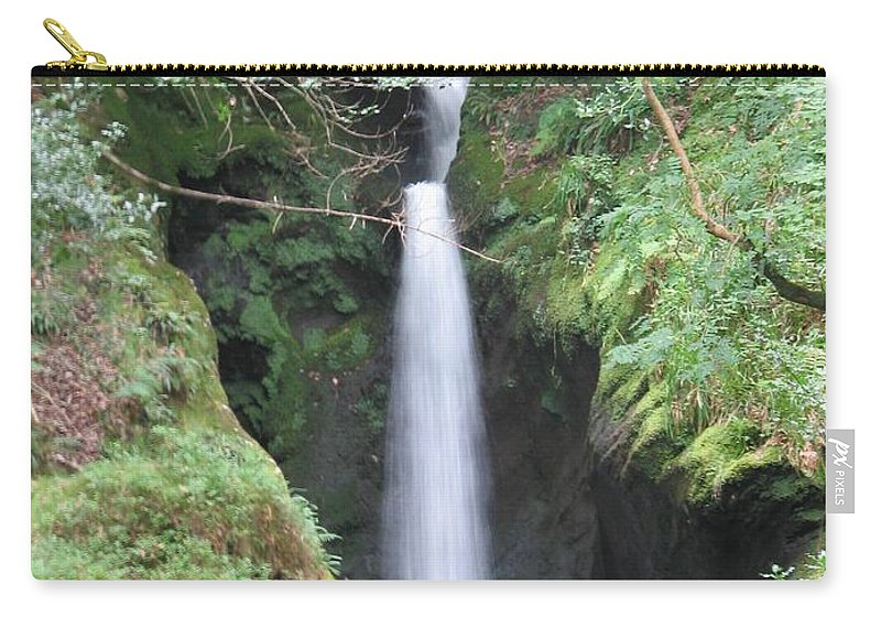 Glendalough Carry-all Pouch featuring the photograph Upper Falls by Kelly Mezzapelle