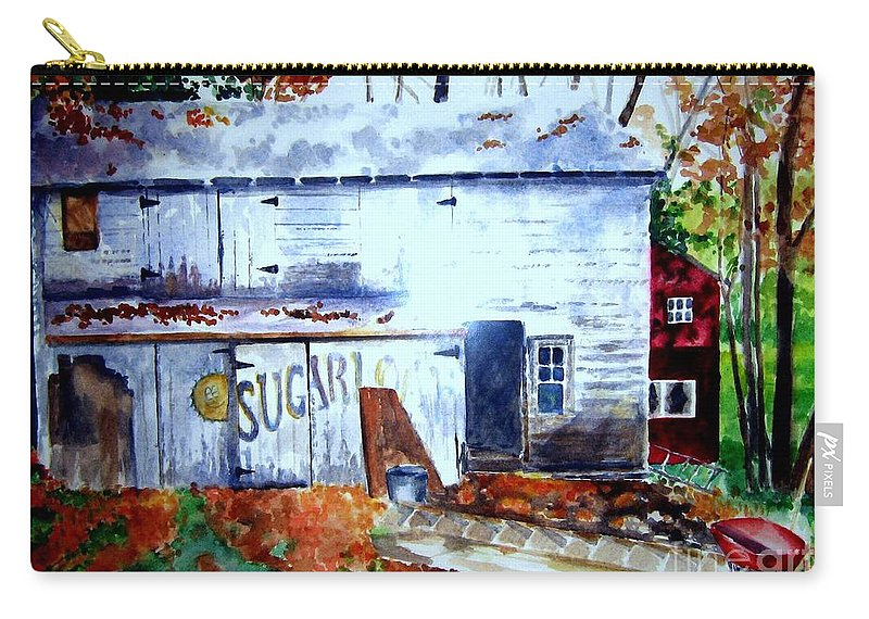 Autumn Carry-all Pouch featuring the painting Upstate Barn by Sandy Ryan