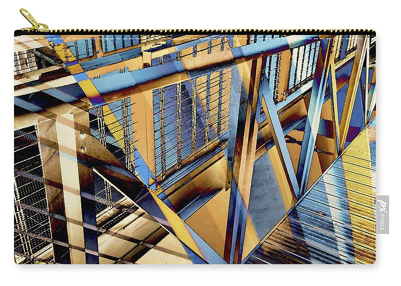 City Carry-all Pouch featuring the photograph Urban Abstract 179 by Don Zawadiwsky