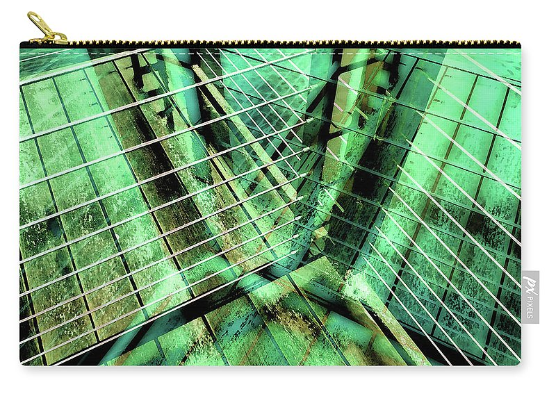 City Carry-all Pouch featuring the photograph Urban Abstract 405 by Don Zawadiwsky
