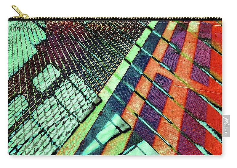 City Carry-all Pouch featuring the photograph Urban Abstract 472 by Don Zawadiwsky