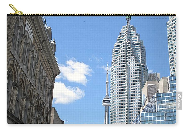 Front Street Carry-all Pouch featuring the photograph Urban Canyon by Ian MacDonald