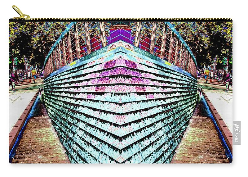 Seattle Carry-all Pouch featuring the digital art Urban Confluence by Tim Allen