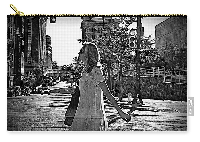 Urban Carry-all Pouch featuring the photograph Urban Lady by Scott Ward
