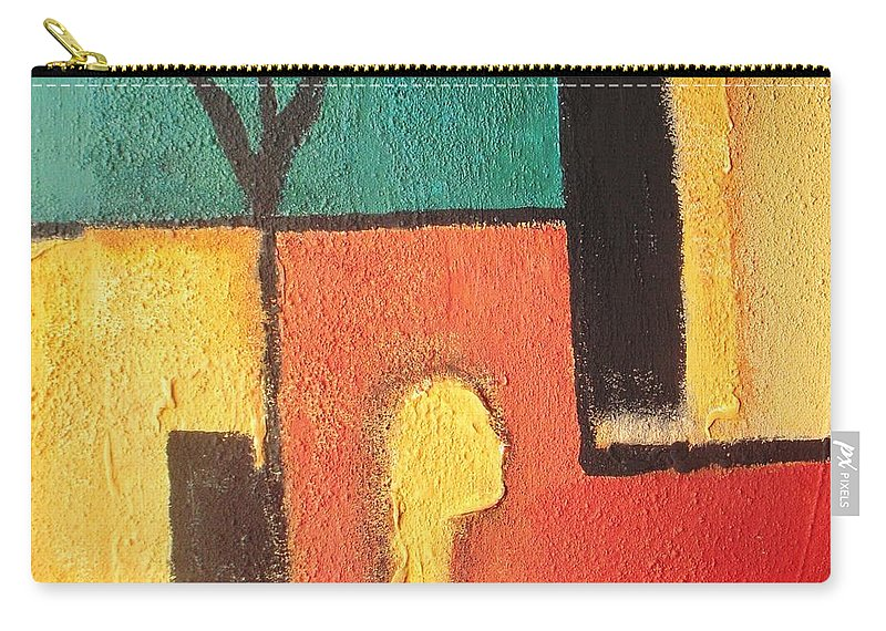 Abstract Carry-all Pouch featuring the mixed media Wishes by Vesna Antic