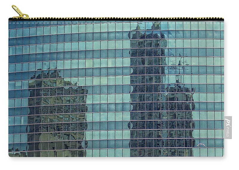 Chicago Carry-all Pouch featuring the photograph Urban Melting Pot by Donna Blackhall
