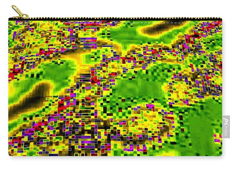 Urban Sprawl Carry-all Pouch featuring the digital art Urban Sprawl by Will Borden