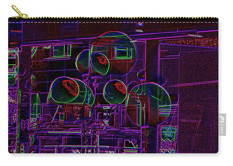 Street Carry-all Pouch featuring the digital art Urban Street Scene by Tim Allen