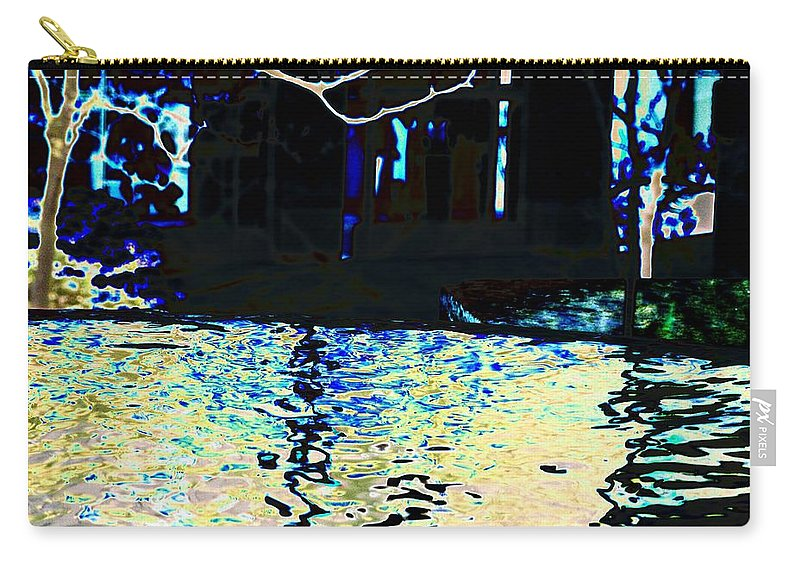 Seattle Carry-all Pouch featuring the photograph Urban Waterfall by Tim Allen