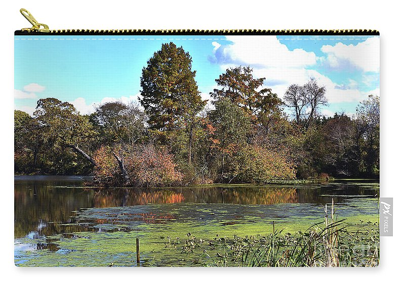 Animals Carry-all Pouch featuring the photograph Urieville Pond by Skip Willits