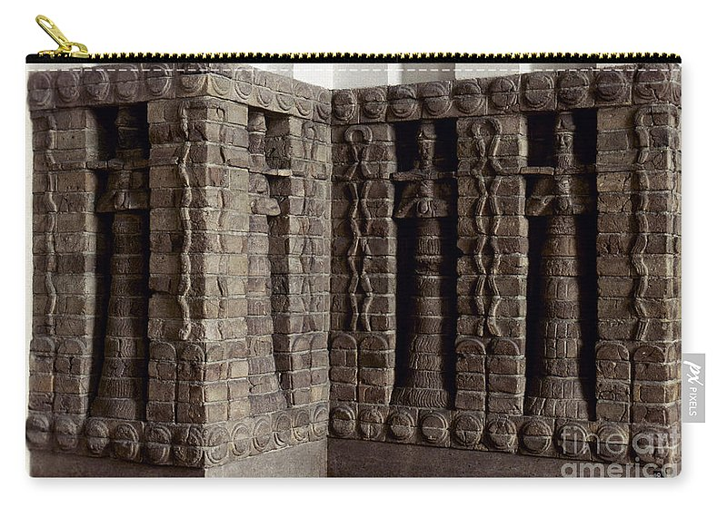 1400 B.c. Carry-all Pouch featuring the photograph Uruk: Innin Temple Facade by Granger