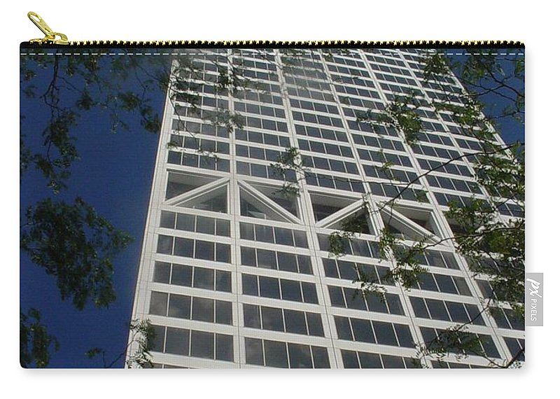 Us Bank Carry-all Pouch featuring the photograph US Bank with trees by Anita Burgermeister