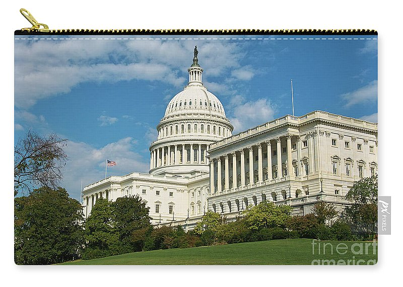 Congress Carry-all Pouch featuring the photograph Us Capitol Washington Dc by Kimberly Blom-Roemer