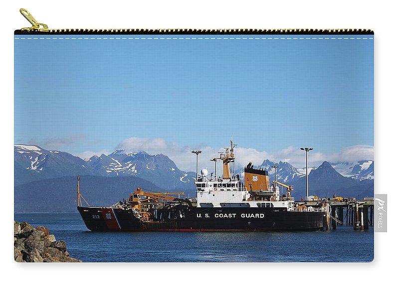 Homer Alaska Carry-all Pouch featuring the photograph Us Coast Guard by Lori Mahaffey