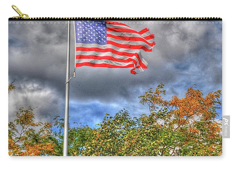 Flags Carry-all Pouch featuring the photograph Us Flag 8091 by Guy Whiteley
