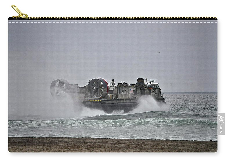 Us Carry-all Pouch featuring the photograph Us Navy Hovercraft by Bridgette Gomes