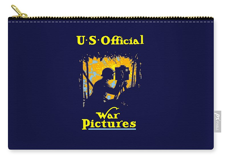 Ww1 Carry-all Pouch featuring the painting U.s. Official War Pictures by War Is Hell Store