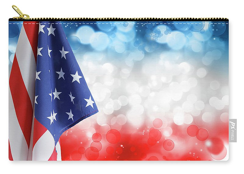 American Flag Carry-all Pouch featuring the photograph Usa Circles by Les Cunliffe
