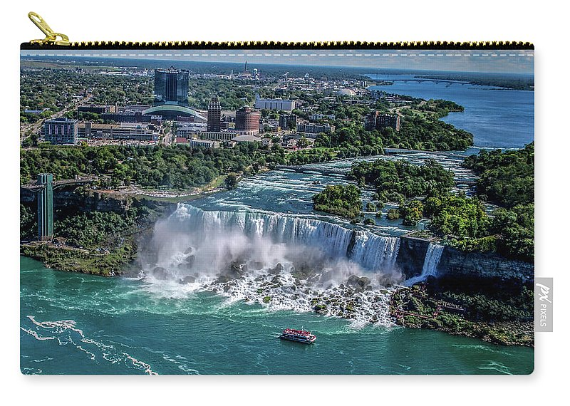 Niagara Carry-all Pouch featuring the photograph Niagara Falls by Kenny Kunzman