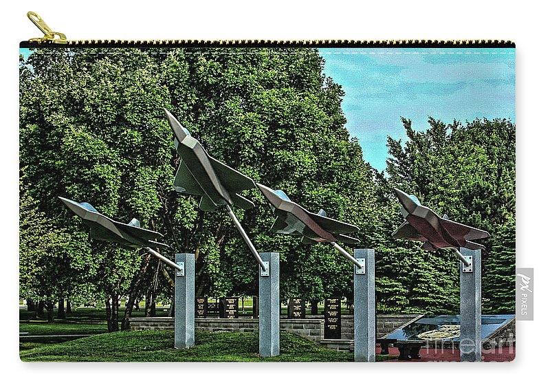Usaf Carry-all Pouch featuring the photograph Usaf Museum Memorial Garden by Tommy Anderson