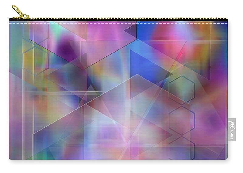Usonian Dreams Carry-all Pouch featuring the digital art Usonian Dreams by John Beck