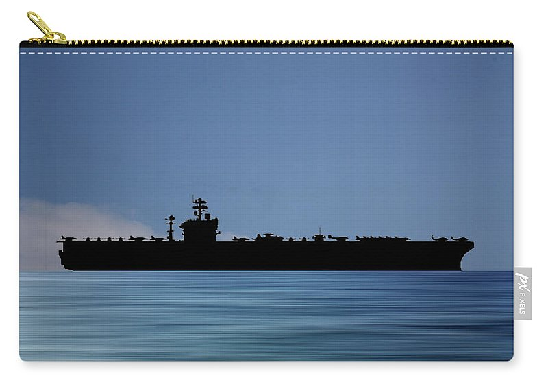 Uss Abraham Lincoln Carry-all Pouch featuring the photograph Uss Abraham Lincoln 1988 V4 by Smart Aviation