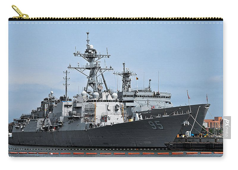 Ship Carry-all Pouch featuring the photograph Uss James E. Williams Ddg-95 by Christopher Holmes